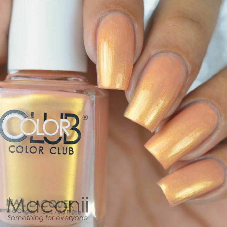 Who Sells Color Club Nail Polish: Peachy Metallic Golden Shimmer