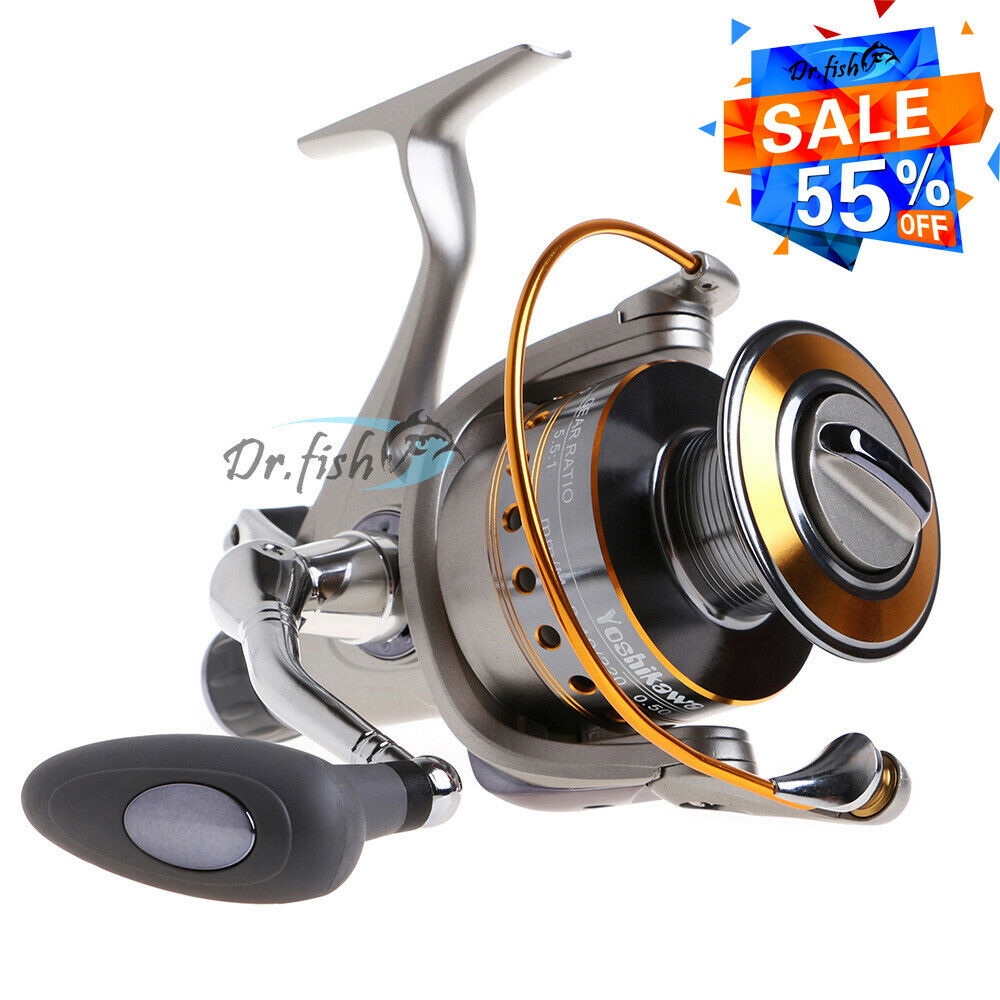 Yoshikawa large spinning reel baitfeeder saltwater surf for Surf fishing reels