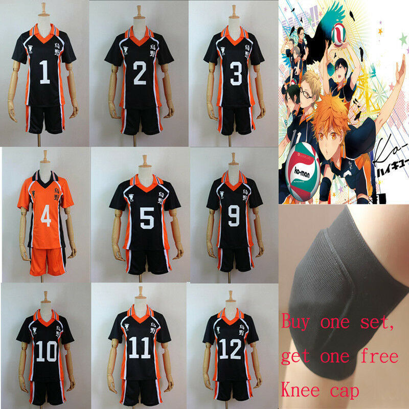 Haikyuu!! Karasuno High School Uniform Jersey Cosplay