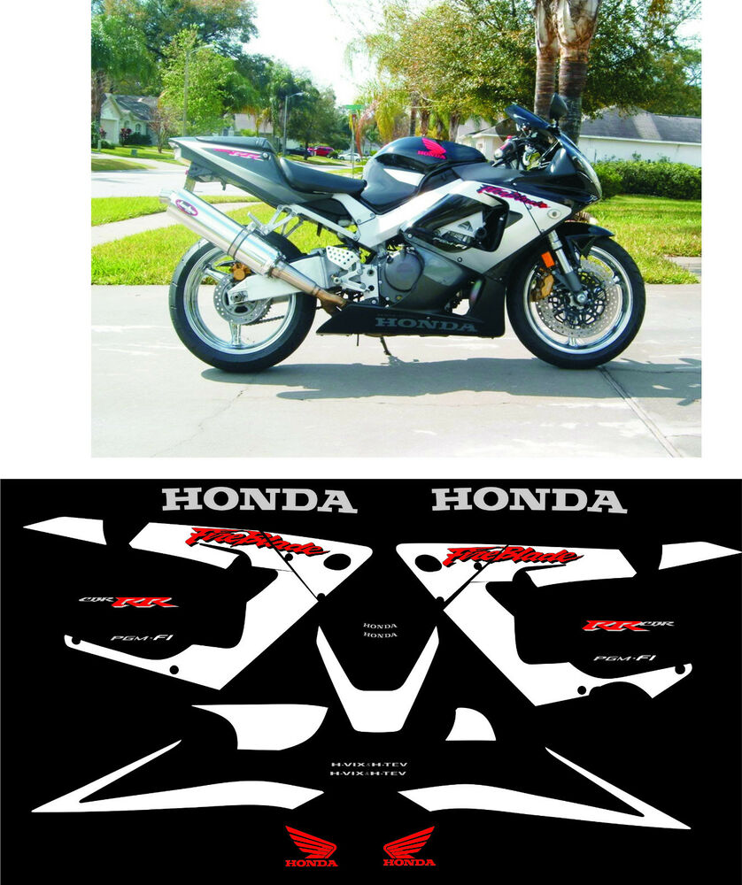 Cbr 900 929 fireblade 2000 2001 decals stickers graphics for Deco 600 cbr