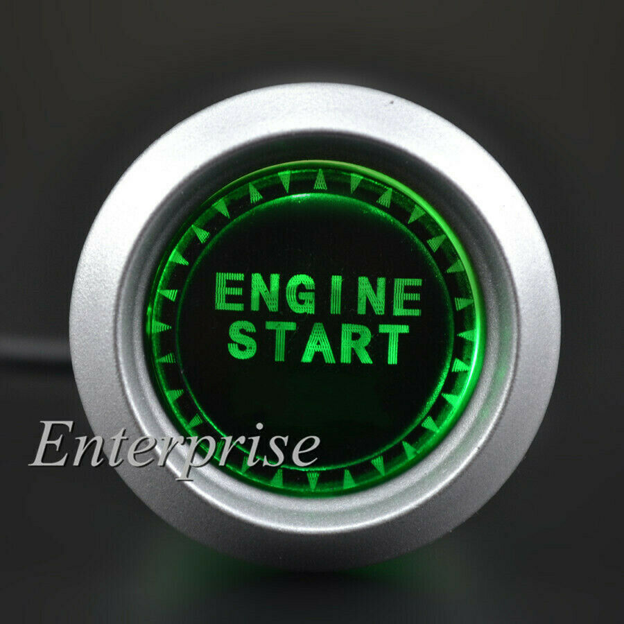 Push To Start Button Ignition: 12V Green LED Car Engine Start Push Button Ignition