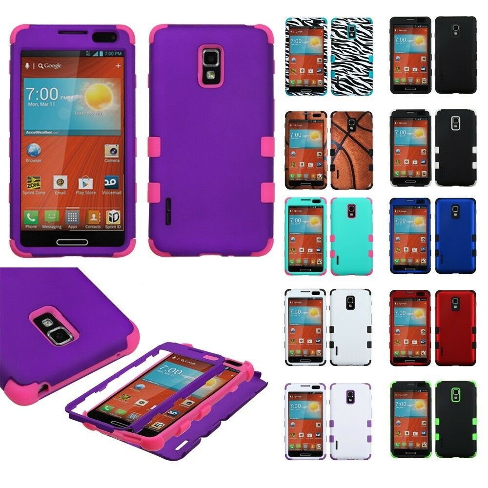 LG Optimus F7 US780 Hybrid T Armor Case Skin Cover + Screen Protector ...