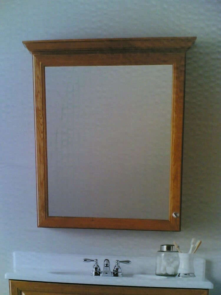 NIB Classy 30\u0026quot;x34\u0026quot; Bathroom Vanity MIRROR Medicine CABINET Honey Finish  eBay