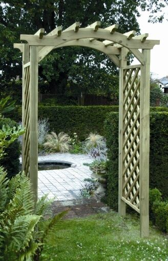 Garden arches wooden timber garden arches rose arch cheap stock ebay - Garden wood arches ...