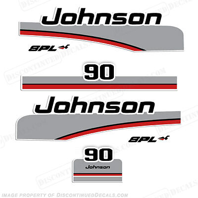 Johnson 1998 90hp Spl Outboard Decal Kit Decal
