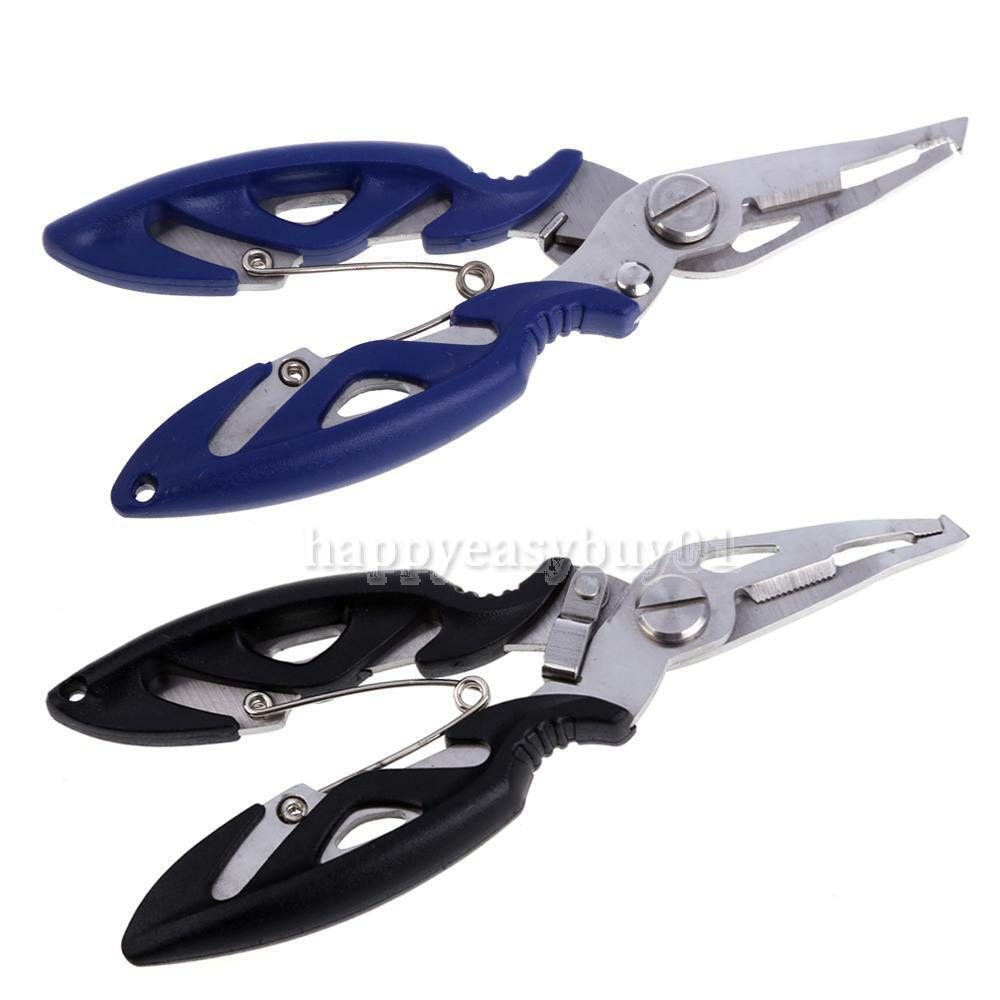 R6h1 stainless steel fishing pliers scissors line cutter for Stainless steel fishing pliers