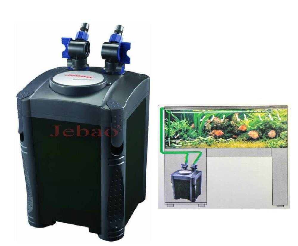 Jebao one touch external aquarium fish tank canister for Fish tank filtration