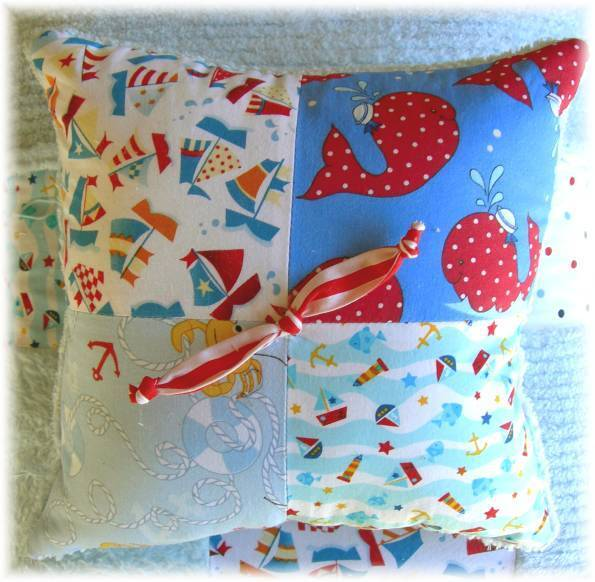Nautical friends sailboats chenille baby quilt bedding boy girl set