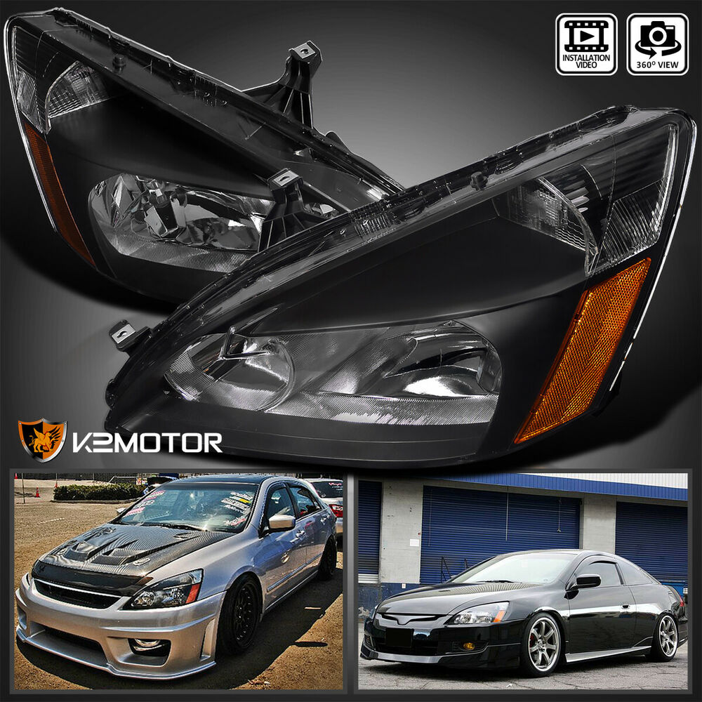 For 2003 2007 Honda Accord 2 4dr Jdm Black Replacement