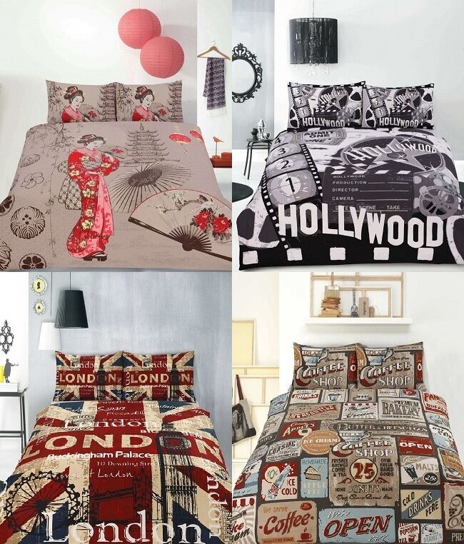 Retro Home Vintage Quilt Doona Duvet Cover Set - SINGLE ...