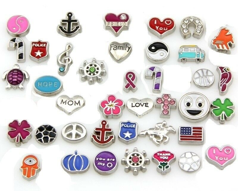 wholesale mixed floating charms for glass living memory
