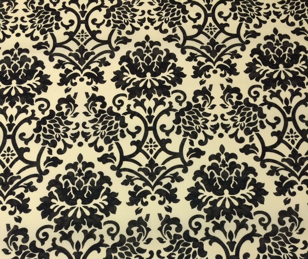 Ballard sinclair damask black cream outdoor furniture for Outdoor furniture upholstery