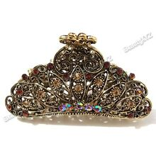 Top Quality Women Rhinestone X-Large Metal Claw Hair Clip brown or red color