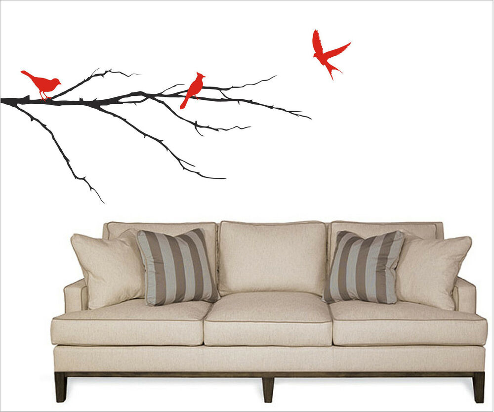 Birds On A Branch Wall Decal Removable Sticker Art Decor Nature Mural