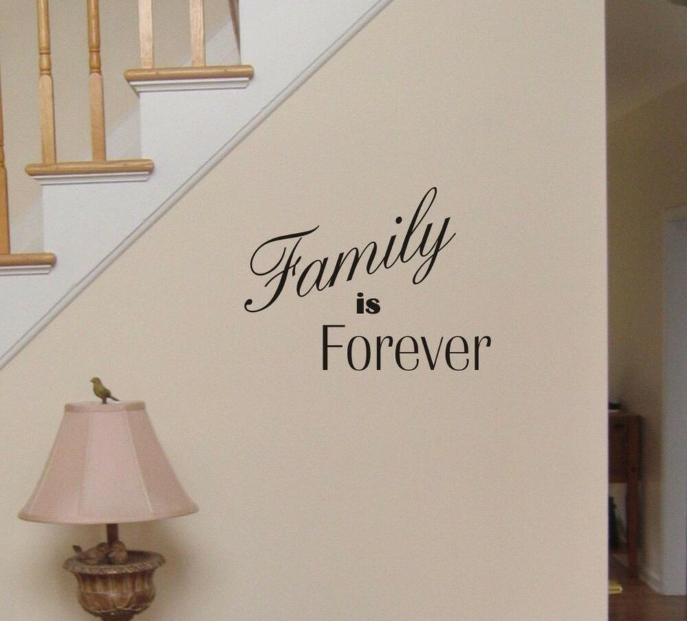 Family Is Forever Wall Decal Removable Sticker Decor Quote