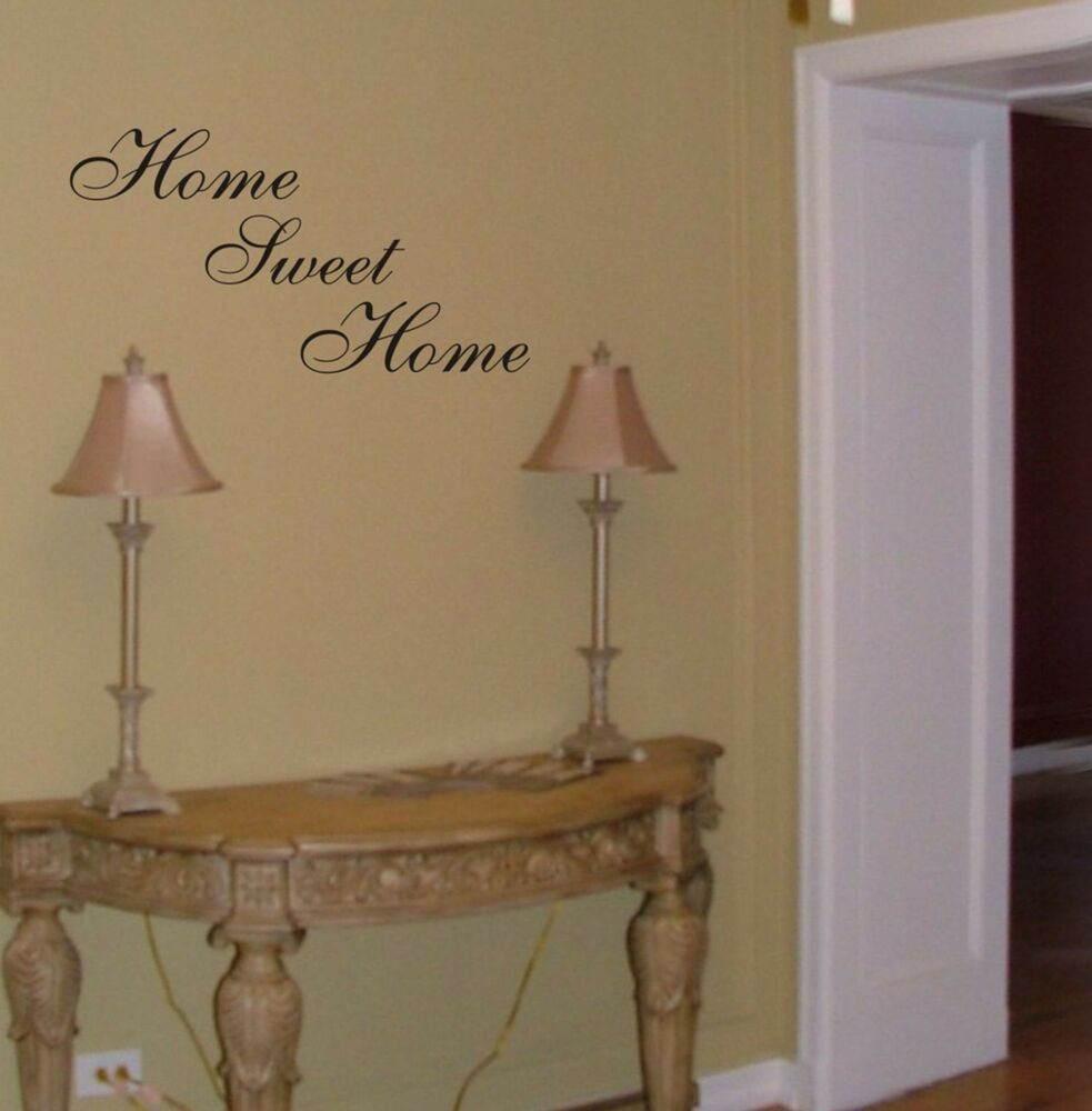 Home sweet home wall decal removable sticker quote art - Home sweet home decorative accessories ...