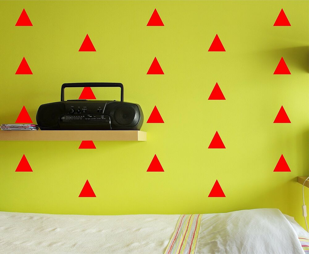Triangle wall decal set removable stickers kids nursery for Kids room decals