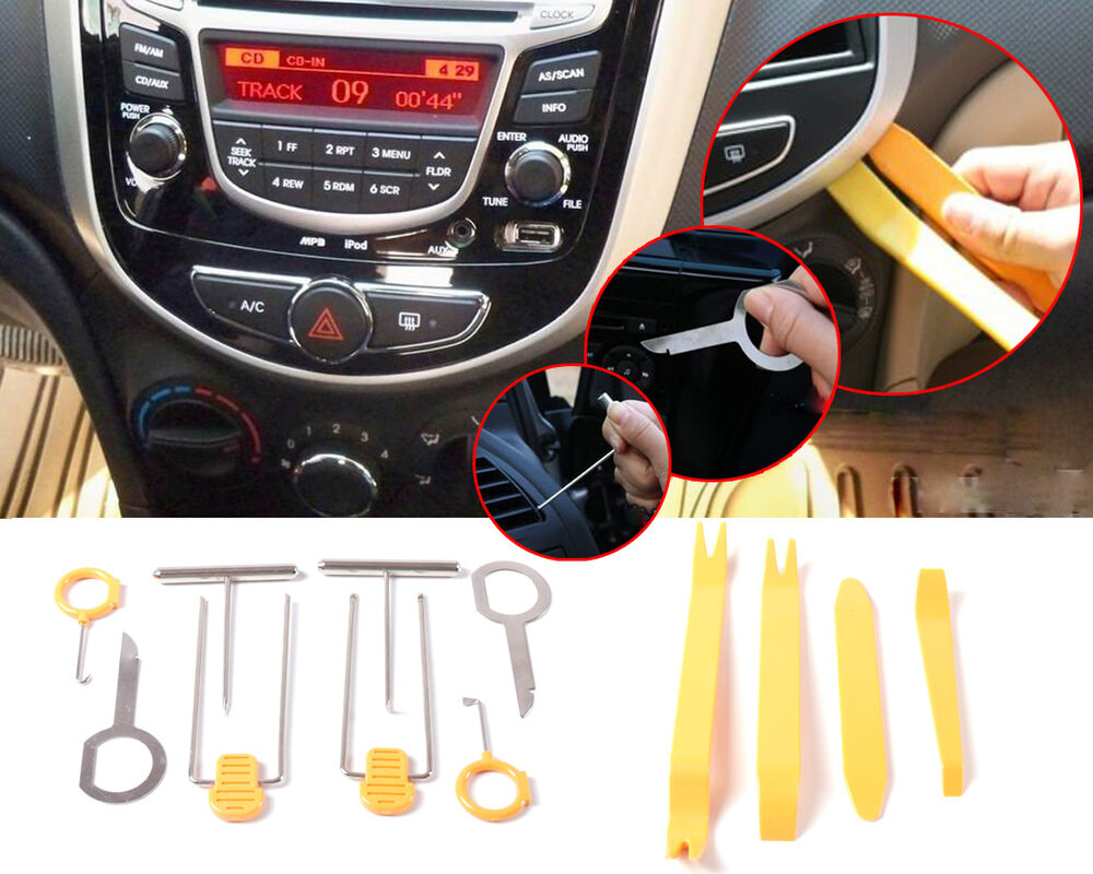 12 pc automotive auto car door panel trim tool set remover removal tool set kit ebay. Black Bedroom Furniture Sets. Home Design Ideas