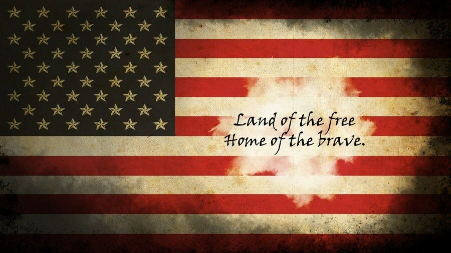 American flag home of the free rv trailer wall mural decal for American flag wall mural