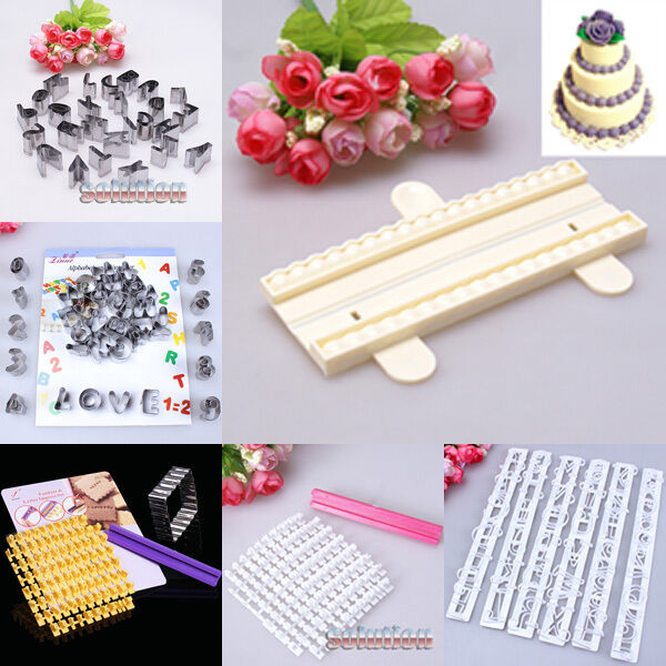 Cake Decorations Letters Uk : Alphabet & Number Letter Cake Cookies Decorating Cutter ...
