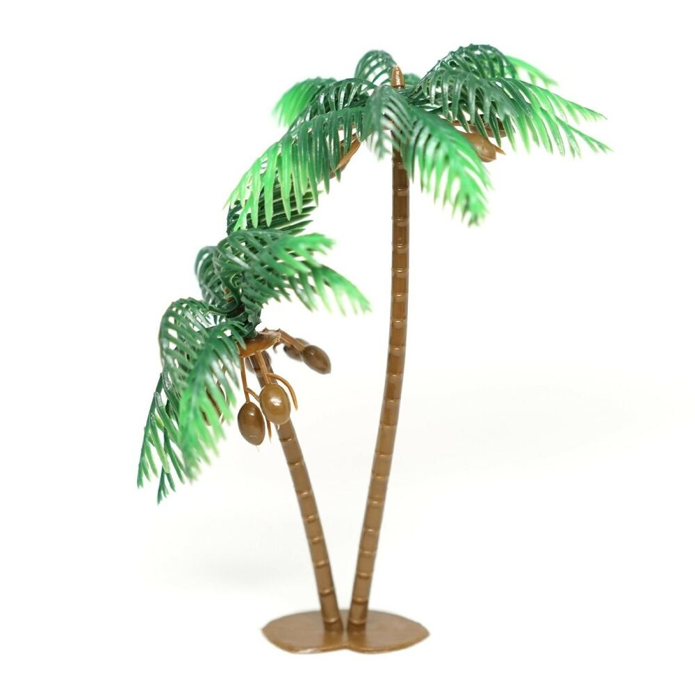 "4 Large Palm Trees with Coconuts Cake Topper 5"" Tall Beach ..."