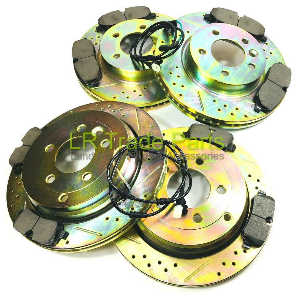 Land Rover Rear Brake Rotor Disc Set Range Discovery I: LAND ROVER DISCOVERY 3 TDV6 FRONT & REAR PERFORMANCE BRAKE