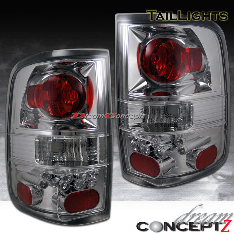 2004 2008 ford f 150 truck clear lens chrome housing tail lights lamps. Black Bedroom Furniture Sets. Home Design Ideas