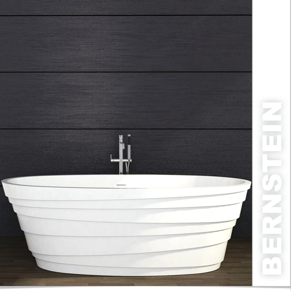 freistehende badewanne aus mineralguss athene stone wei 180x90cm ebay. Black Bedroom Furniture Sets. Home Design Ideas