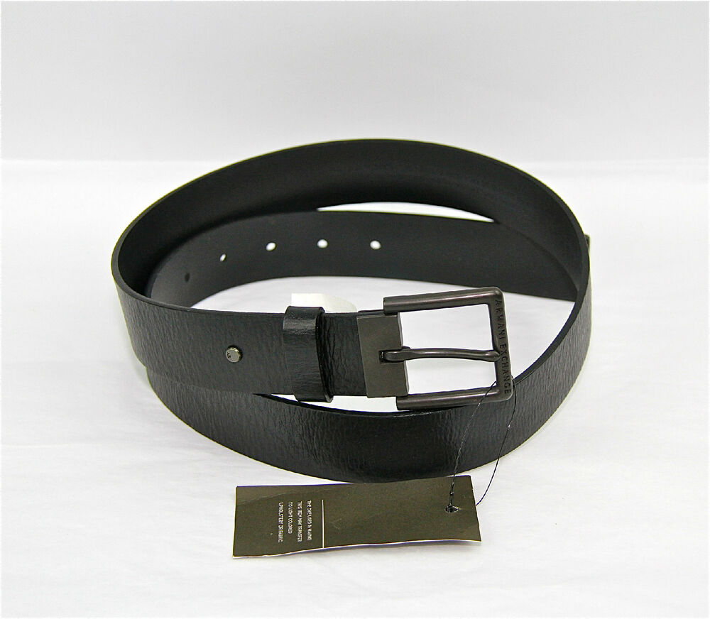 armani exchange ax dress belt 100 authentic 100 leather