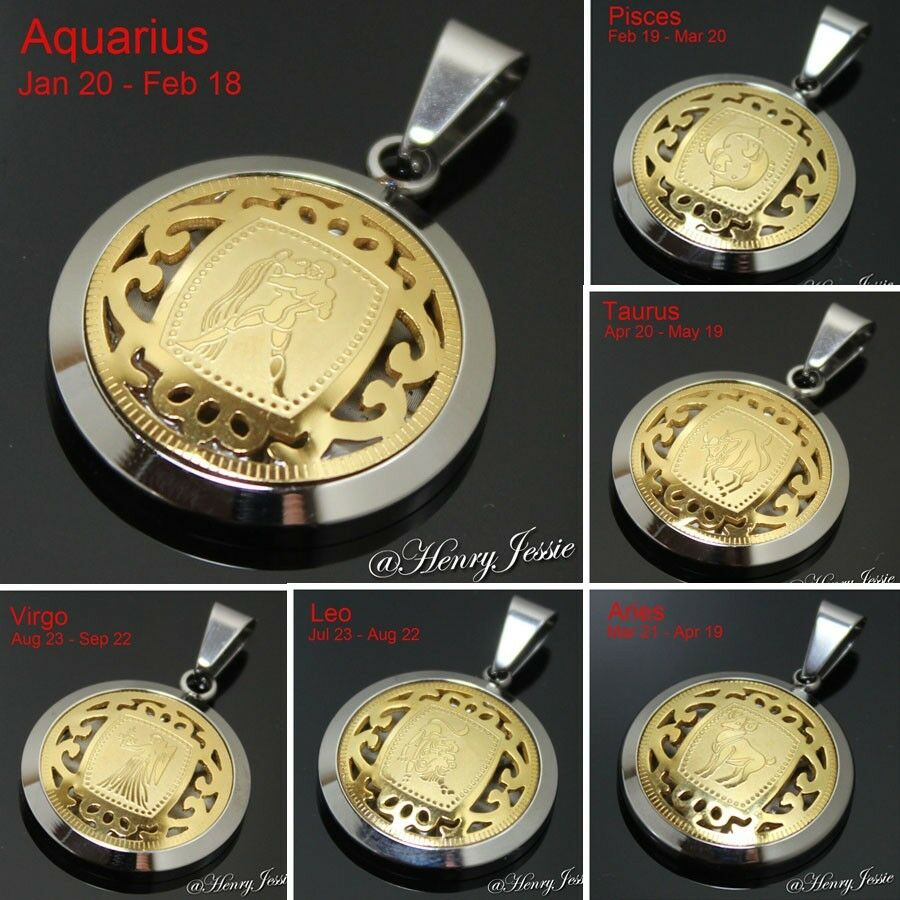 Zodiac Constellation Dog Tag Stainless Steel Men S Women S: MEN WOMEN Stainless Steel Silver Gold 12 Zodiac Signs