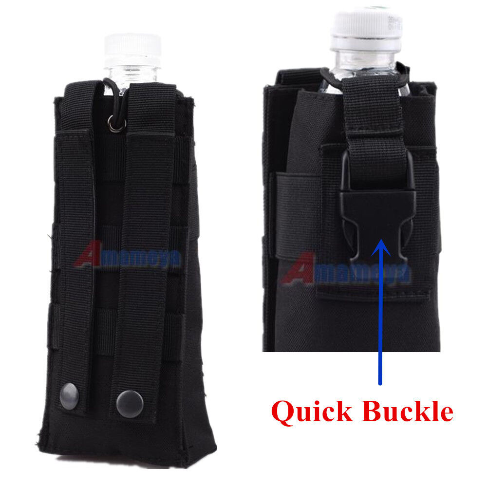 quick water bottle pouch military molle tactical travel top open carry bag bl. Black Bedroom Furniture Sets. Home Design Ideas