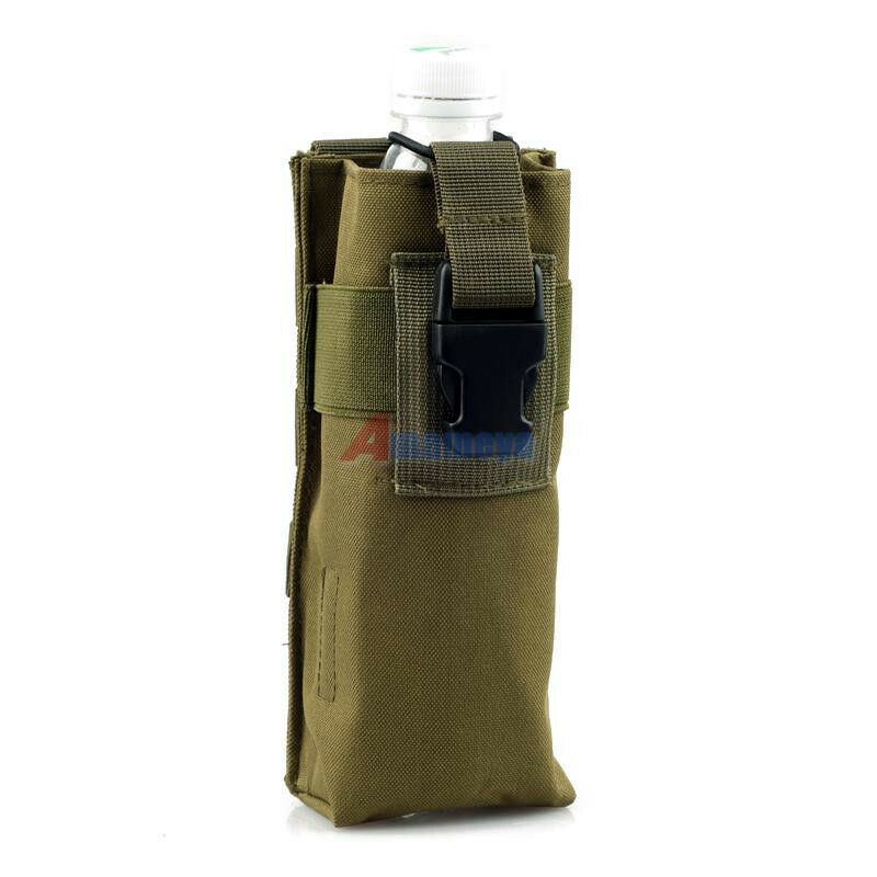 army green tactical military molle travel open top water bottle pouch carry bag ebay. Black Bedroom Furniture Sets. Home Design Ideas