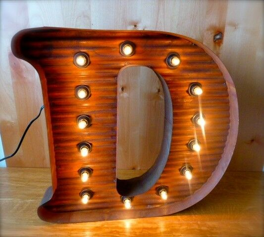 vintage metal letters with lights lg brown vintage style light up marquee letter d 24 quot 12620