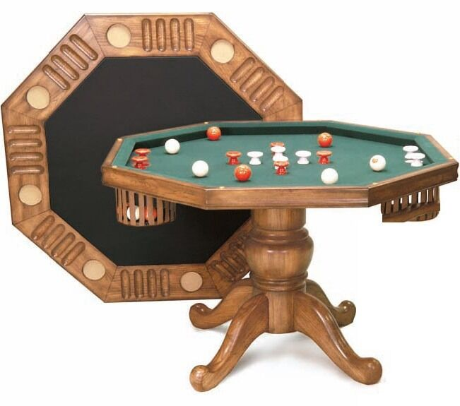3 In 1 48 Quot Octagon Table Bumper Pool Poker Amp Dining In