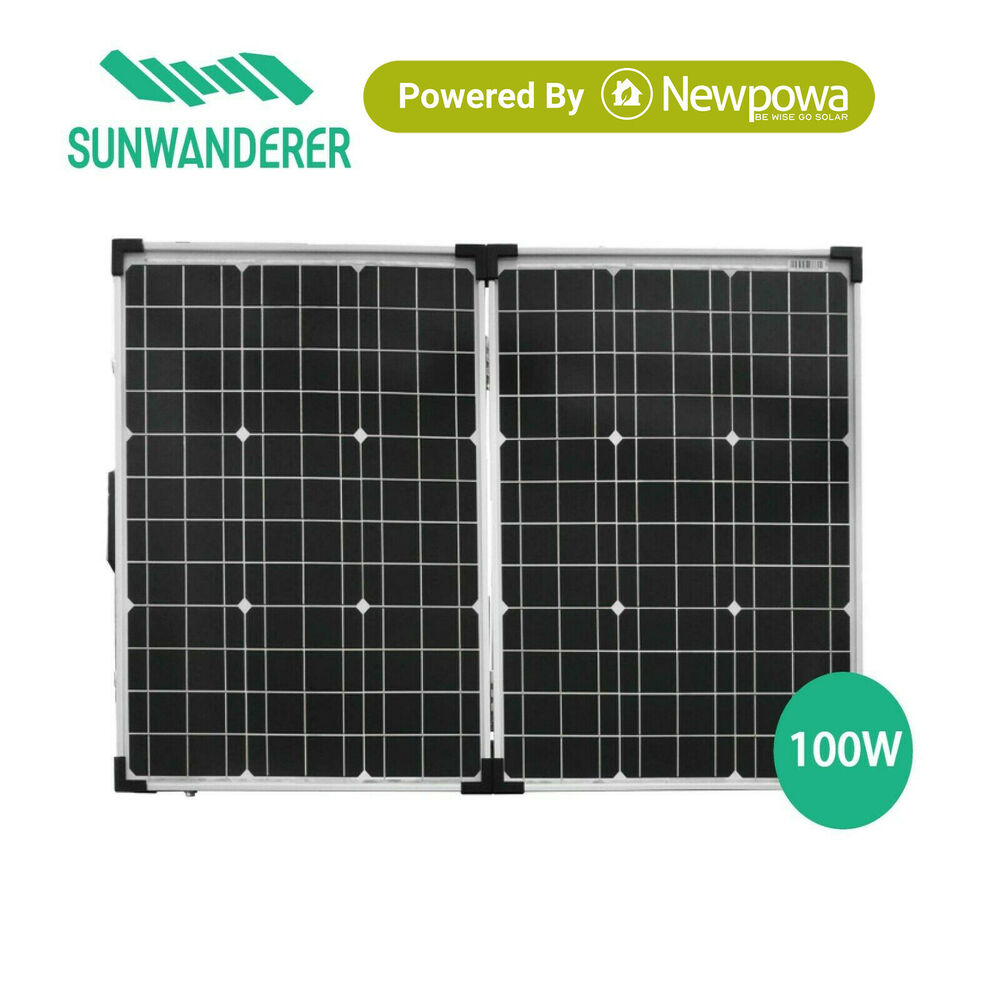 Rv Solar Battery Charger System : W portable foldable folding solar charging system kit rv