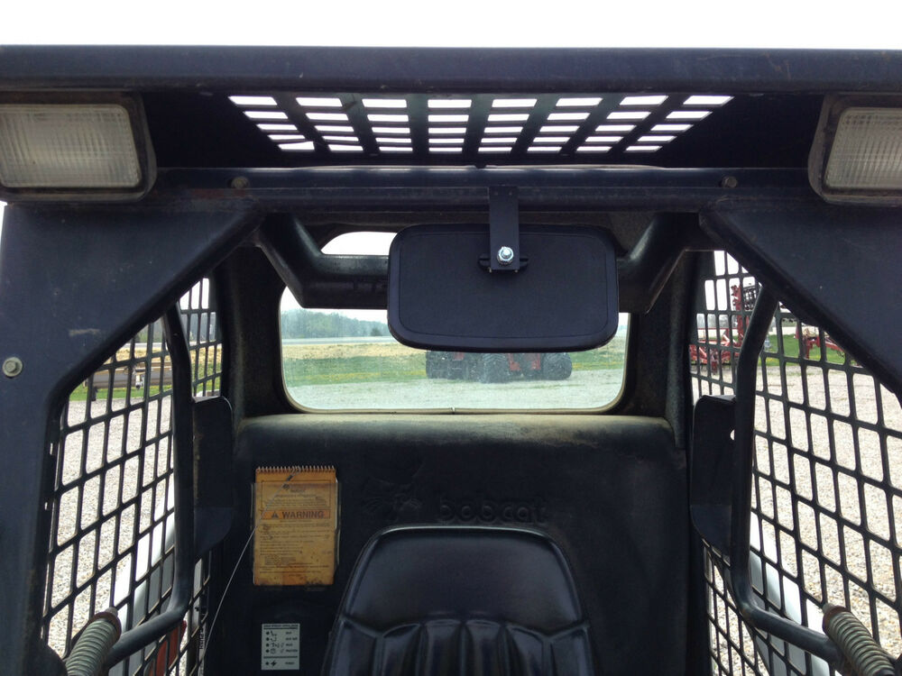 Universal Rearview Mirror For Skid Steer Such As Case