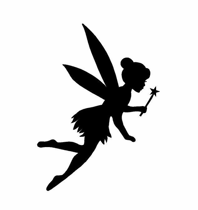 fairy wand silhouette sticker decal tink princess usa not disney tinkerbell ebay. Black Bedroom Furniture Sets. Home Design Ideas