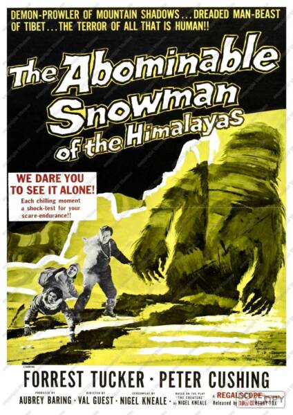 The Abominable snowman : Vintage Film  Poster reproduction