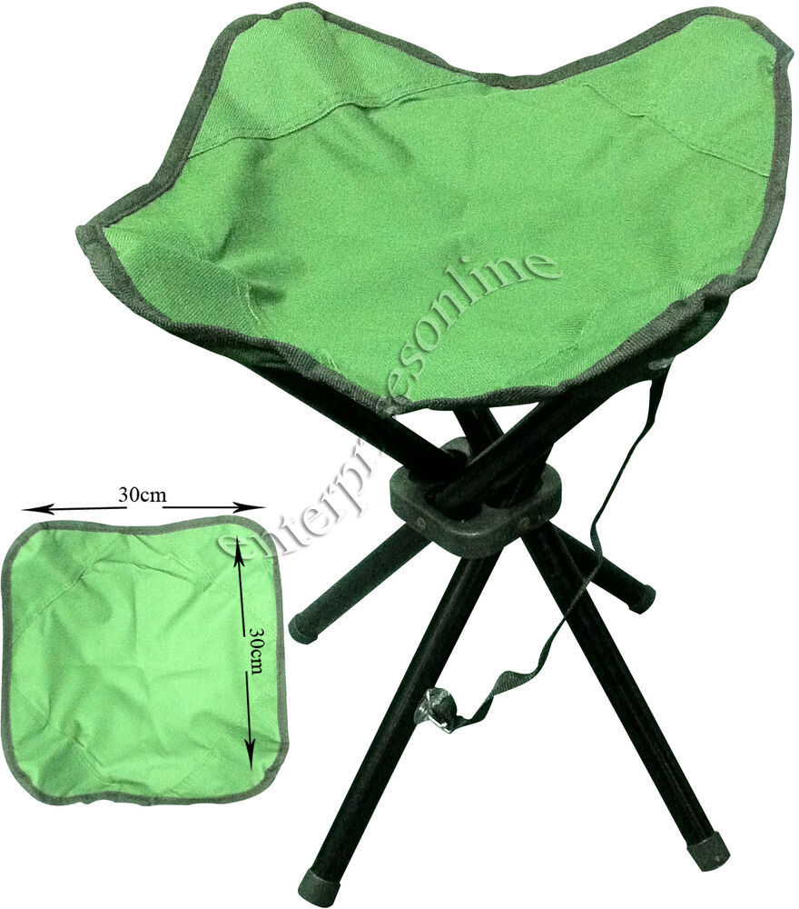 4 Legs Portable Folding Camping Stool Chair Seat Hiking