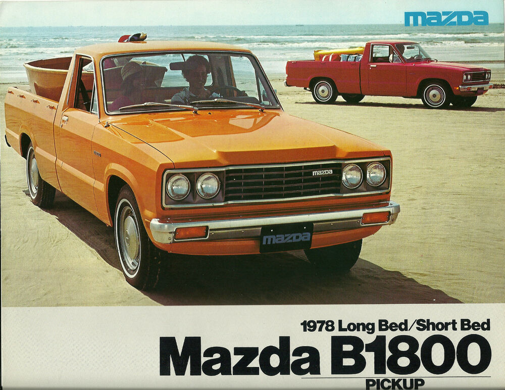 1978 mazda b1800 pickup truck brochure catalog b 1800 pick up long bed short 39 78 ebay. Black Bedroom Furniture Sets. Home Design Ideas