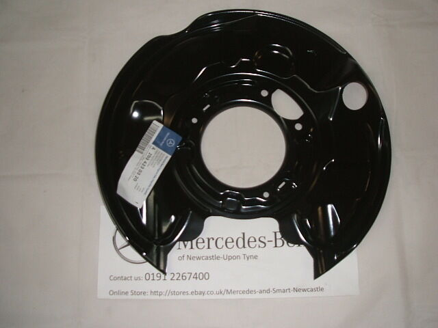 genuine mercedes benz w203 c class lh rear brake backing plate a2034230320 new ebay. Black Bedroom Furniture Sets. Home Design Ideas