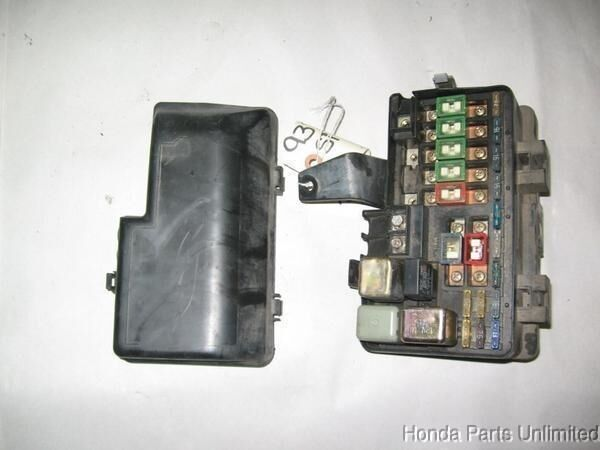 92 96 Honda Prelude OEM under hood fuse box with fuses