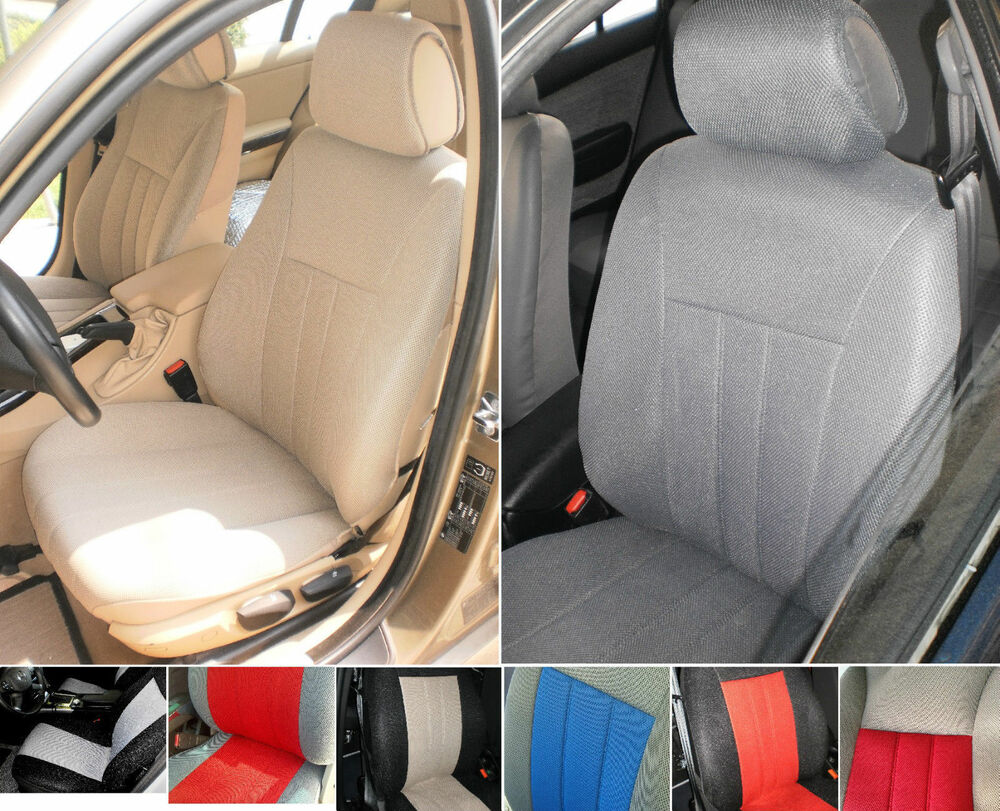 two front synthetic custom car seat covers fits on mercedes s class seats ebay. Black Bedroom Furniture Sets. Home Design Ideas