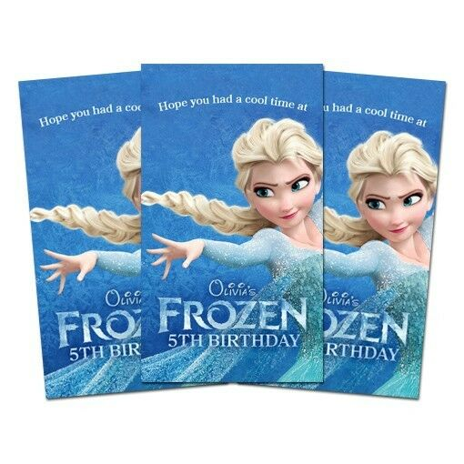 10 frozen movie birthday party favors personalized thank