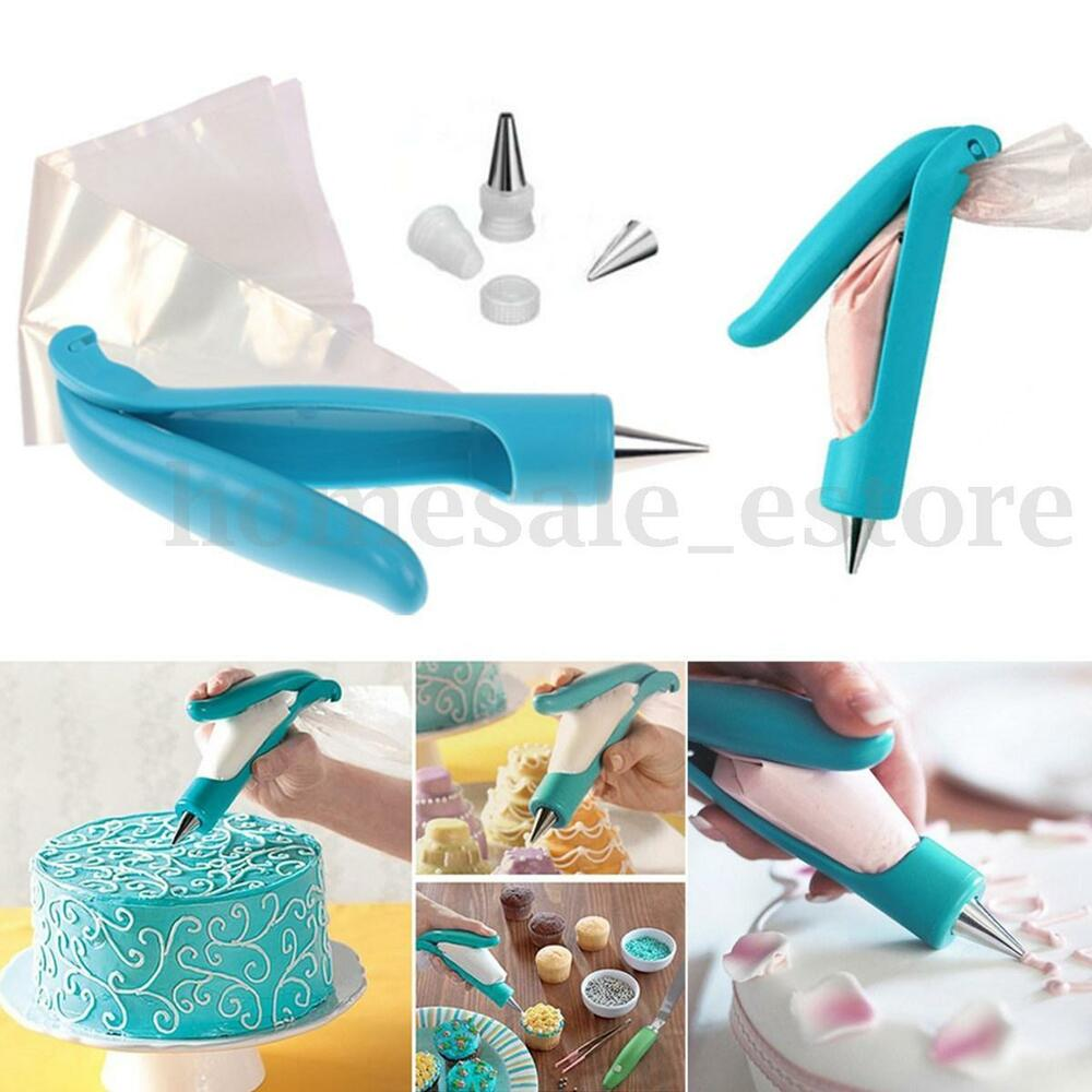 Cake Decorating Bag How To : Pastry Icing Piping Bag Nozzle Tips Fondant Cake ...