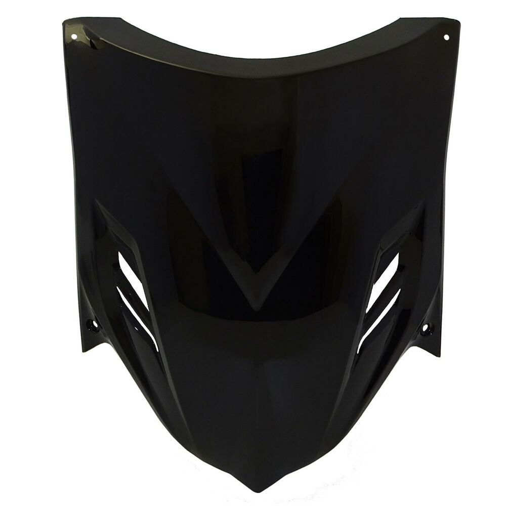 Front headlight mask cover large shield black fit yamaha for Yamaha zuma scooter cover