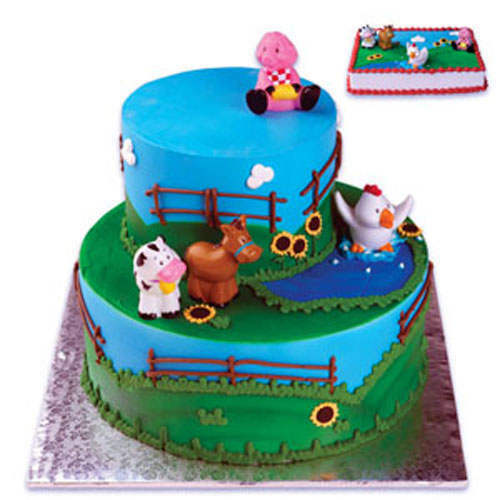 Kit Iniciacao Cake Design : FARM ANIMALS CAKE DECORATING KIT Decoration Topper Favors ...