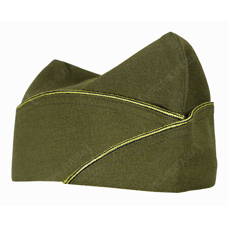 img-WW2 US Army Officers Piped GARRISON SIDE CAP - All Sizes - American Military Hat