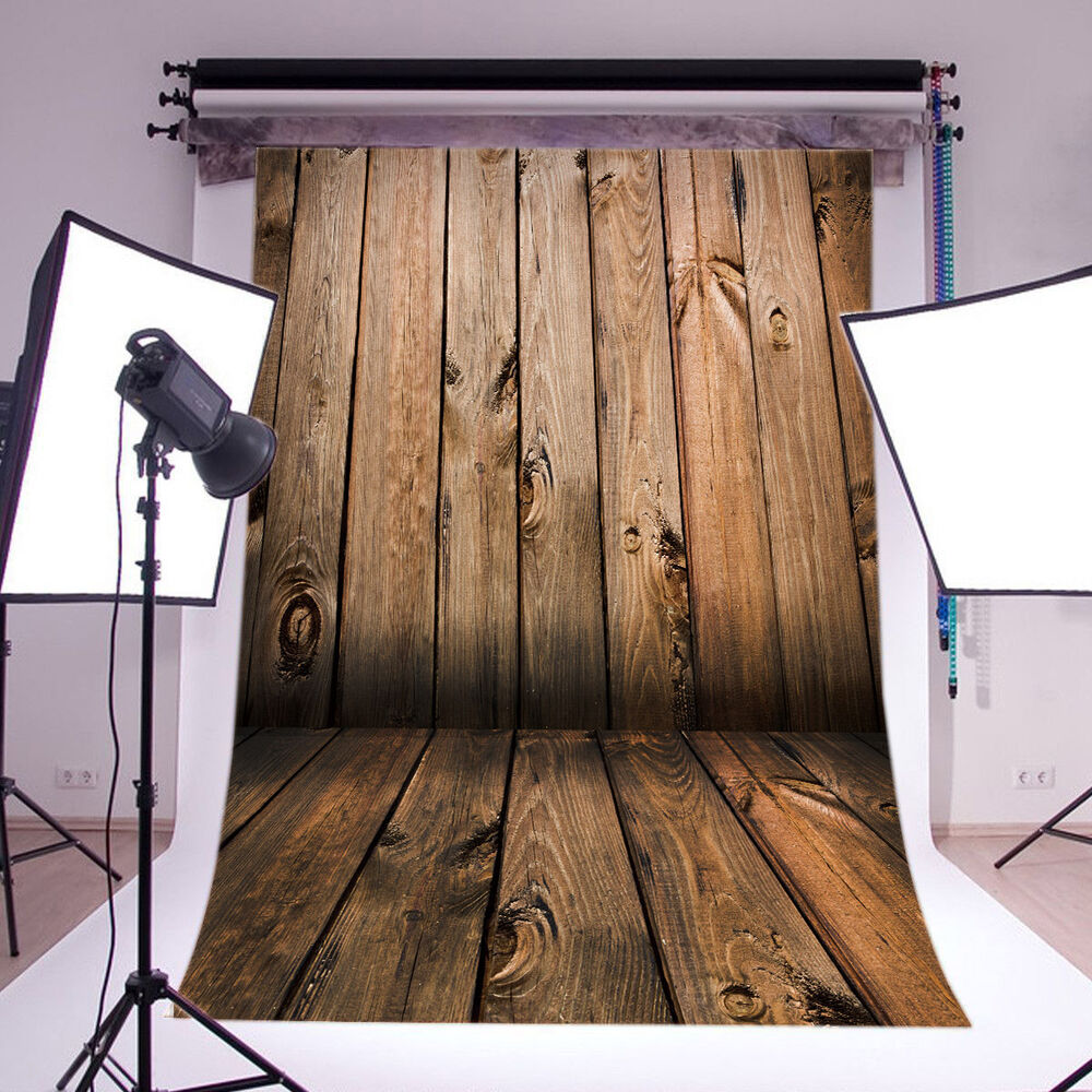 Wood Wall Floor Vinyl Photography Backdrop Background