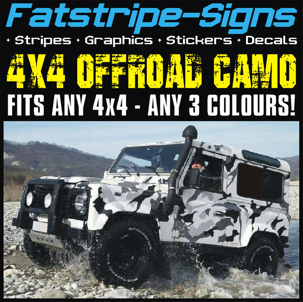 4x4 Offroad Car Camo Graphics Stickers Decals Camouflage Defender Discovery Jeep Ebay